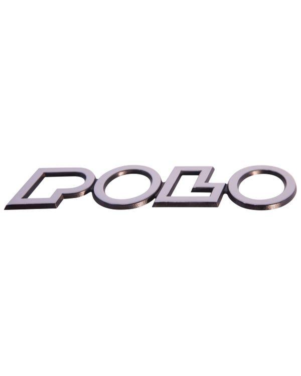 Emblem für die Heckklappe, Polo Schriftzug