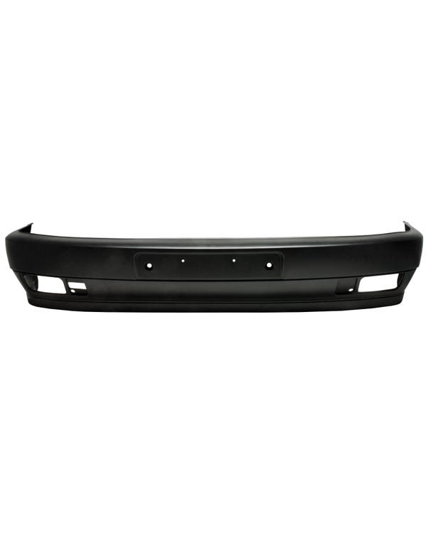 Front Bumper, Black Textured with Fog Holes for Short Nose