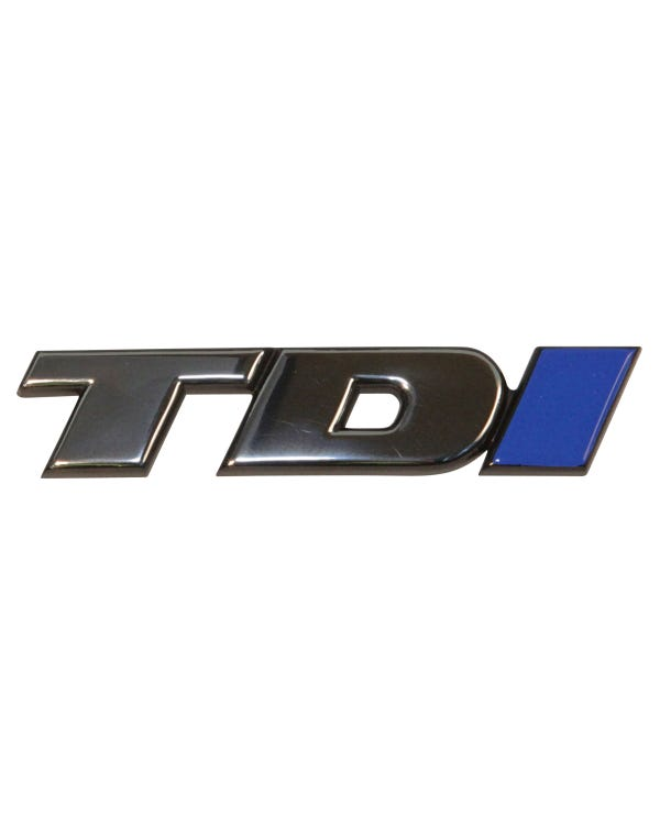 Front Badge - TDI Chrome with Blue I Long Nose
