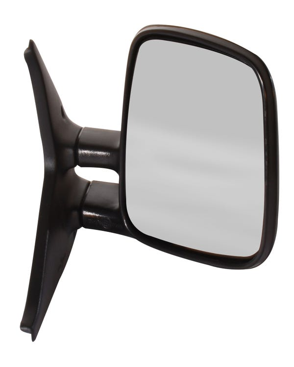 Right Hand Manual Door Mirror with Convex Glass for Left Hand Drive