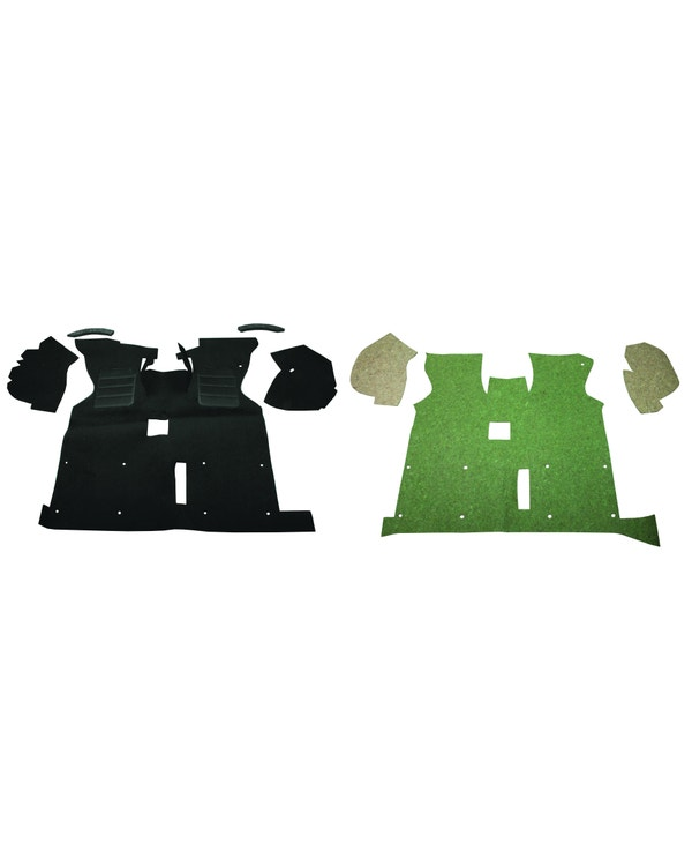 Cab Floor Carpet for Left Hand Drive Black Short Type with Arch Under Felt