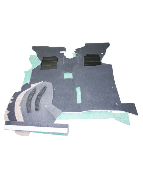 Cab Floor Carpet for Right Hand Drive Grey Long Type with Arch Under Felt