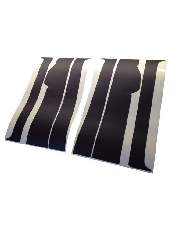 B Pillar Blackout Decal 6 Piece Set for Twin Sliding Door Model