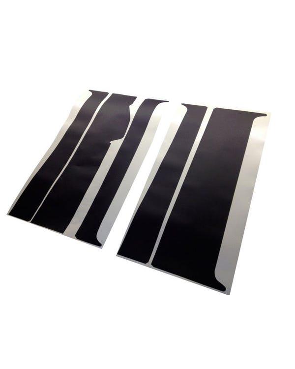 B Pillar Blackout Decal 5 Piece Set for Left Sliding Door Model