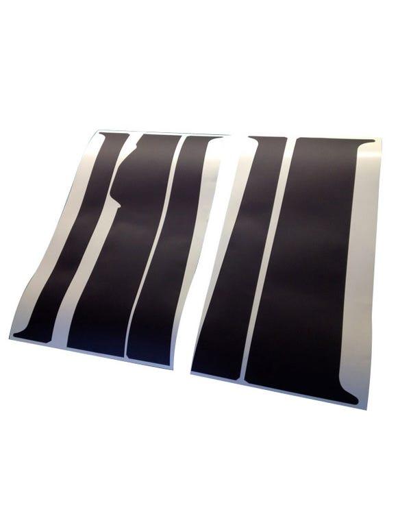 B Pillar Blackout Decal 5 Piece Set for Right Sliding Door Model