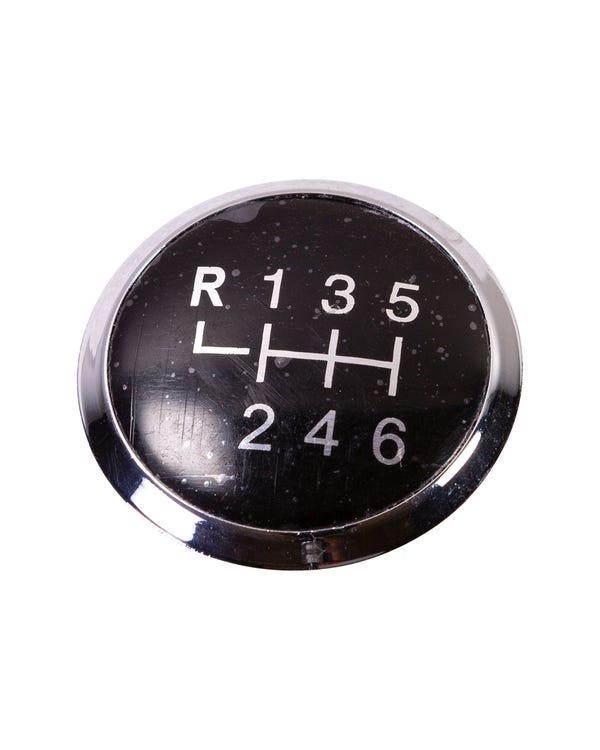 Gear Knob Badge for 6 Speed in Black and Silver