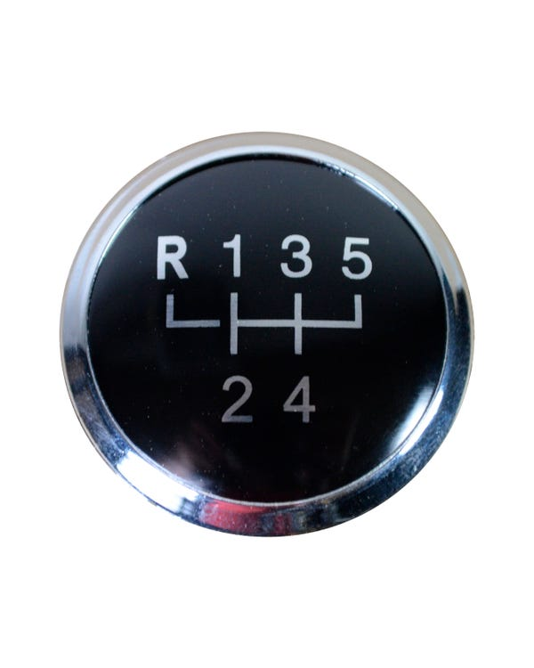 Gear Knob Badge for 5 Speed in Black and Silver