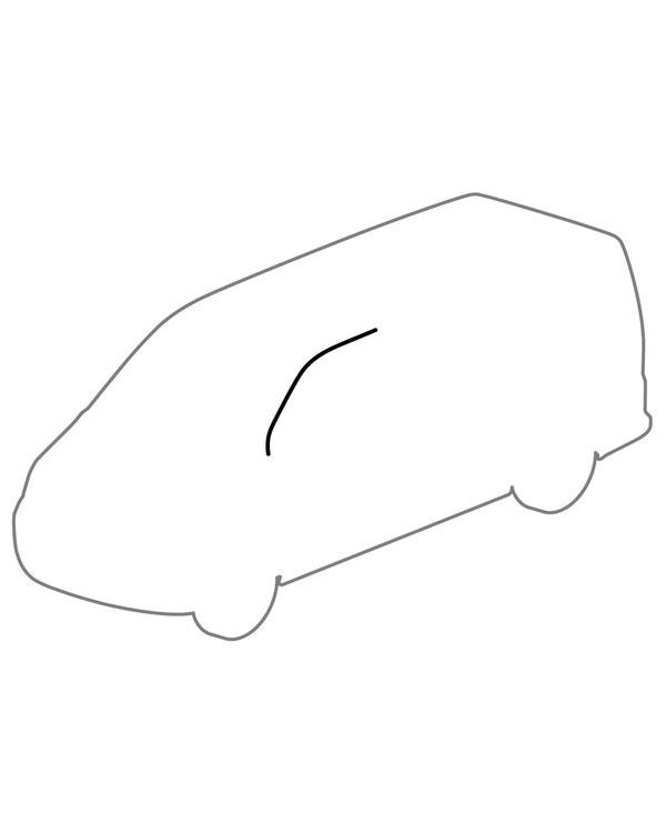 Left Upper Cab Door Seal
