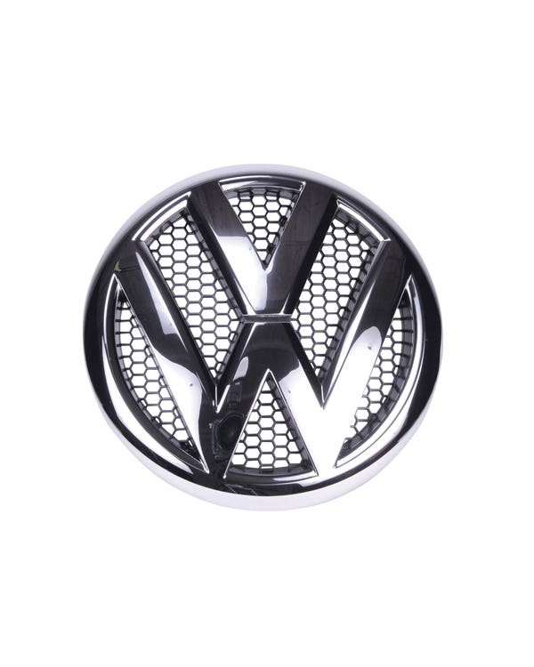 Emblema cromado de VW para parrilla delantera