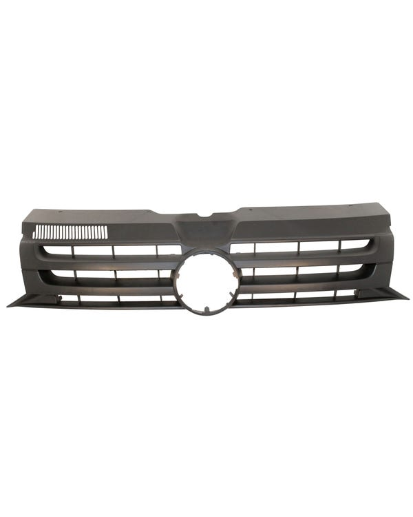 Front Grille with Hole for Badge in Matt Black