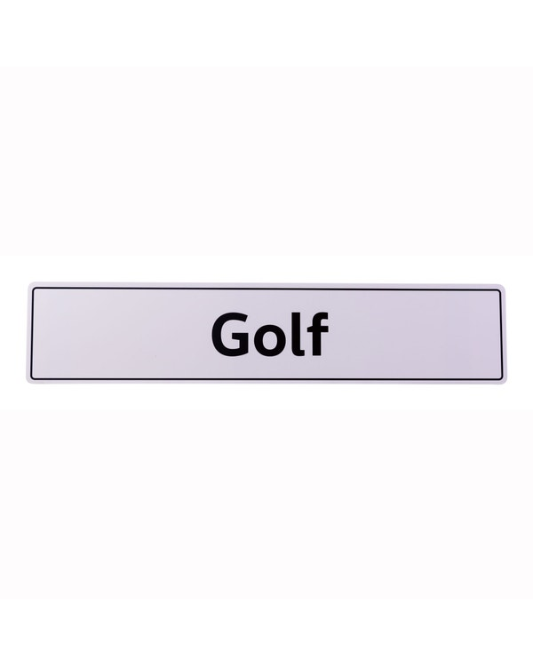 VW Showroom Style Golf Number Plate