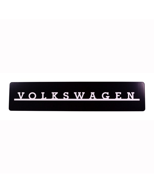 VW Showroom Style Black and White Volkswagen Number Plate