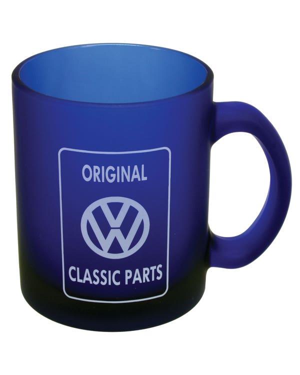 Coffee Mug Blue Glass with Original Classic Parts Logo
