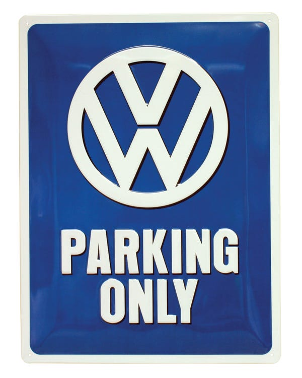 Metal Sign 30x40cm VW Parking only
