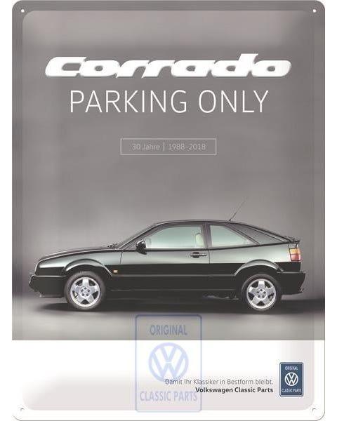"""""""Corrado Parking only"""" Schild"""