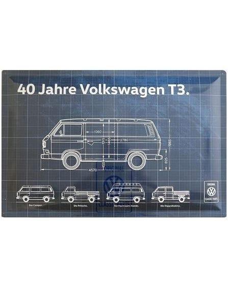 """Metallschild """"40 Jahre T3 Bus"""""""