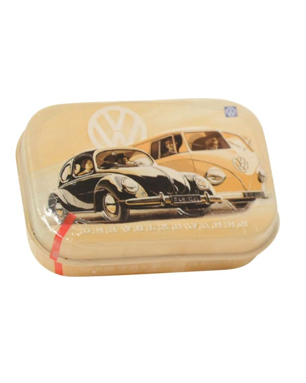 Small Metal Box with a Splitscreen and Beetle Print