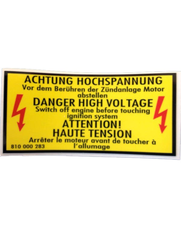 Sticker Engine Bay Warning 100x45mm