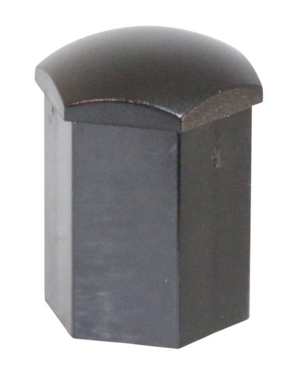 Black Wheel Bolt Cap 17mm