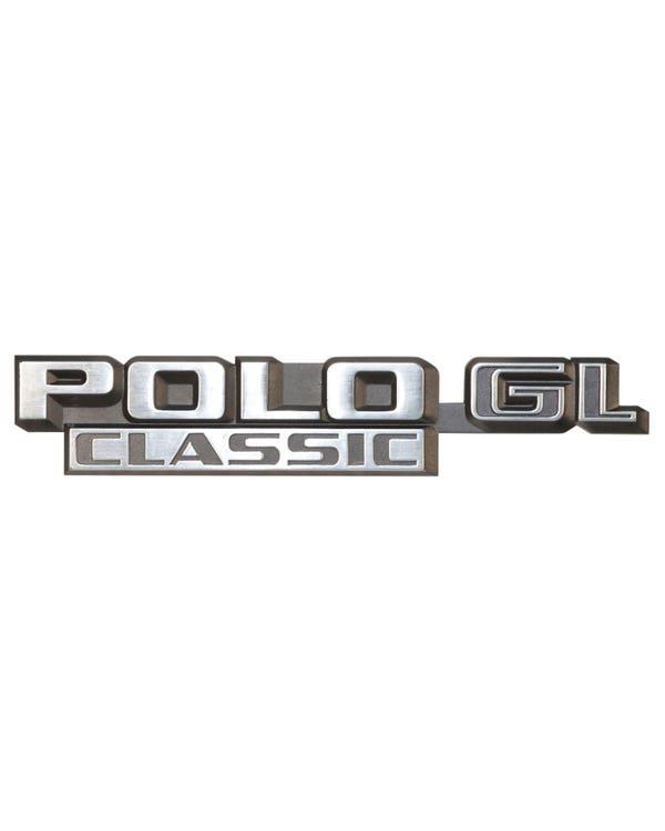 Emblem für die Heckklappe, Polo CL Classic Schriftzug