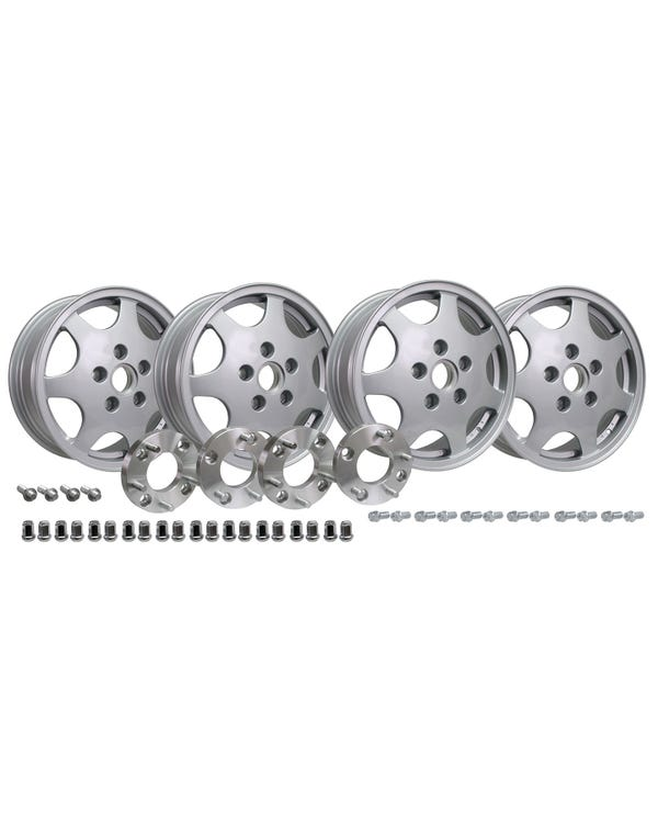Design 90 Wheel Set with 4x130 to 5x130 Adaptors