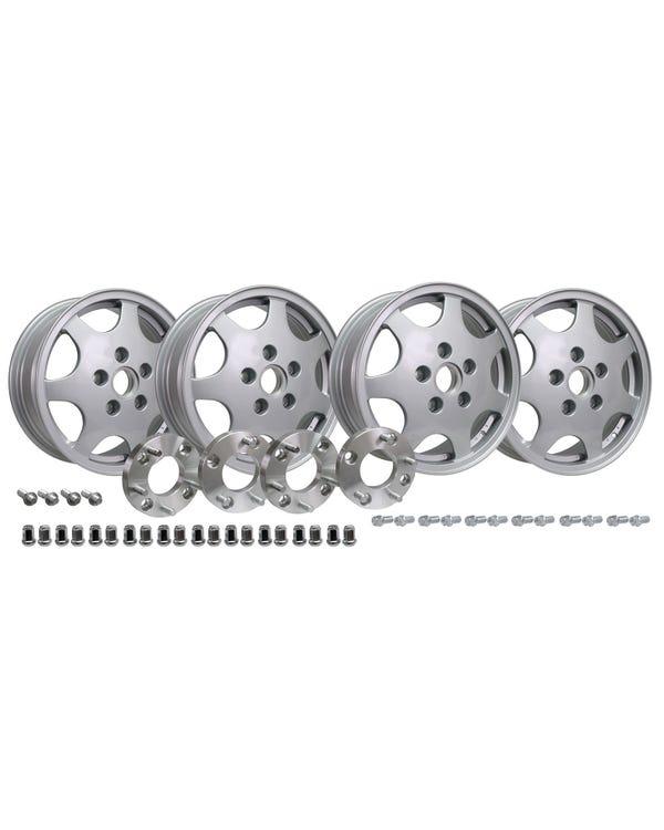 Juego de rueda de diseño 90 con adaptador de espárragos de 4x130 a 5x130