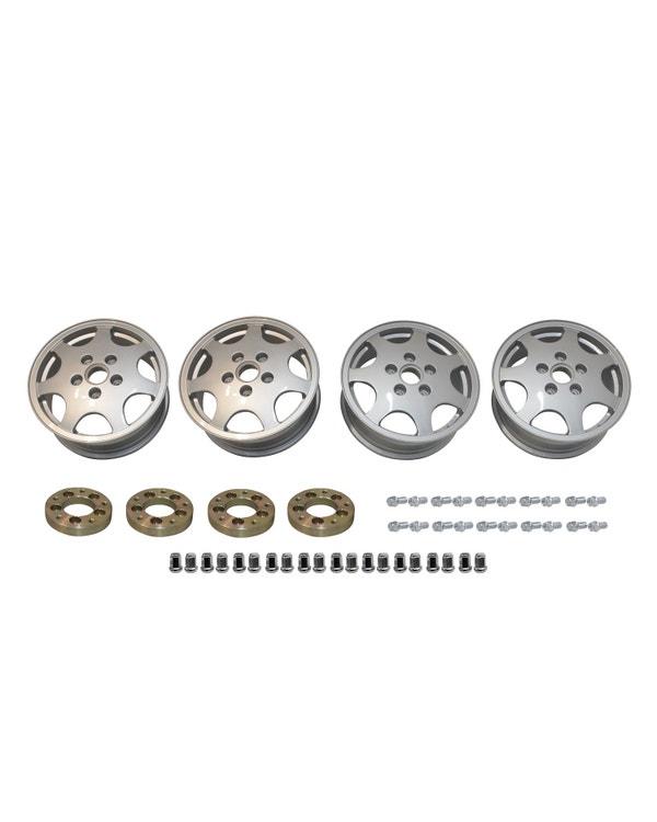 Design 90 Wheel Set with 5x112 to 5x130 Adaptors