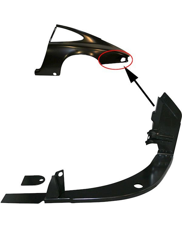 Light Support Panel, Rear Left, Coupe