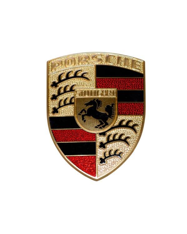 Hood Badge Porsche Crest