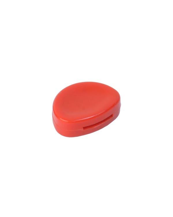 Botón de control climático en rojo
