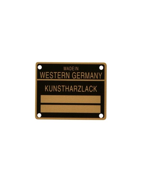 Door Jam color Code Plate