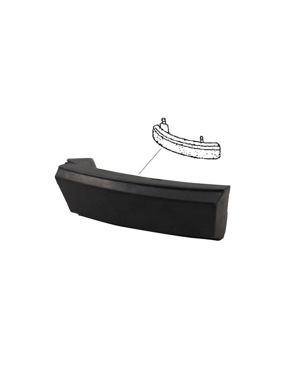Front Bumper Rubber Corner Moulding Right