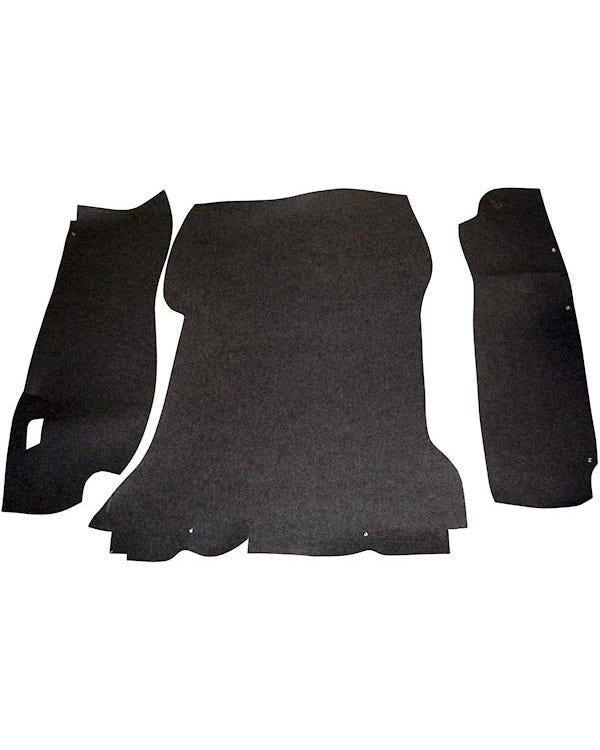 Kofferraumteppichsatz, schwarz