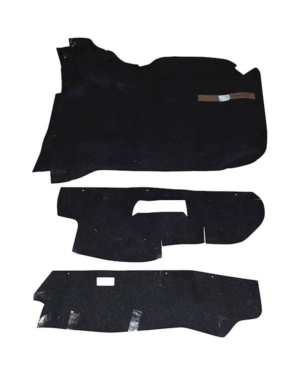 Boot Carpet Set Black Left Hand Drive