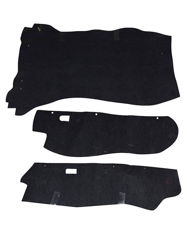 Moqueta negra zona maletero