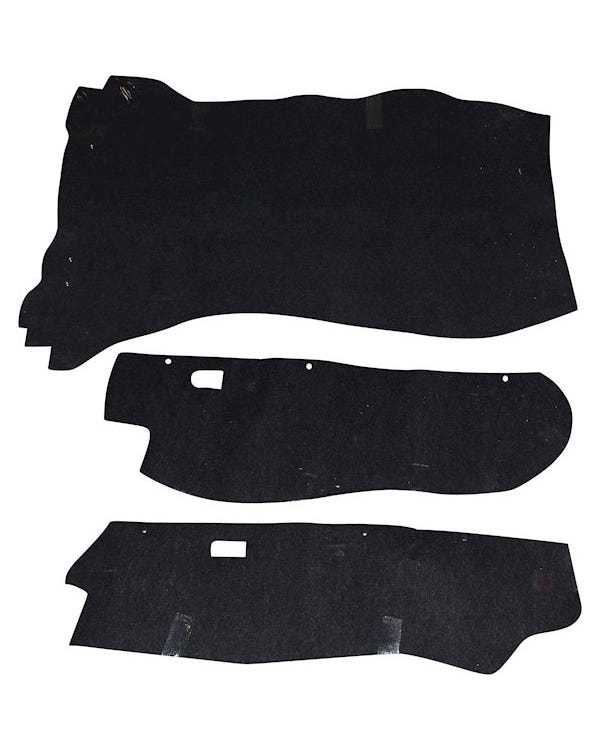 Boot Carpet Set Black