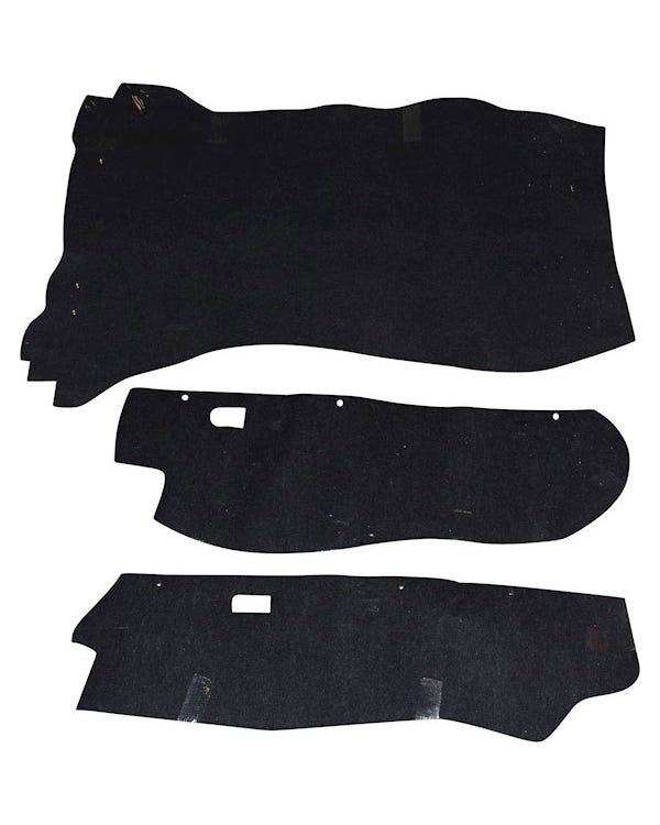 Kofferraumteppich-Set schwarz