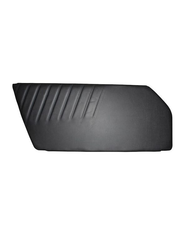 Door Trim Panel Black Vinyl Left
