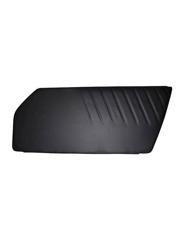 Door Trim Panel Black Vinyl Right
