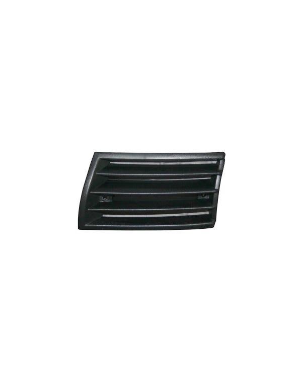 Horn Grille, Black Plastic, Left