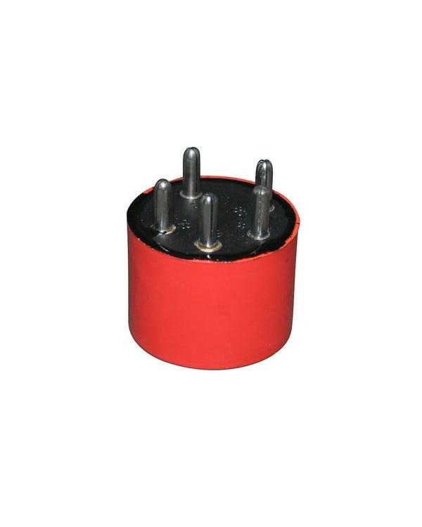 Rele bomba de combustible redondo rojo
