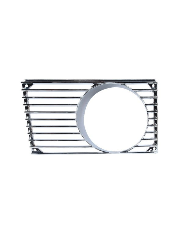 Horn Grille with Fog Light Hole in Chrome, Left