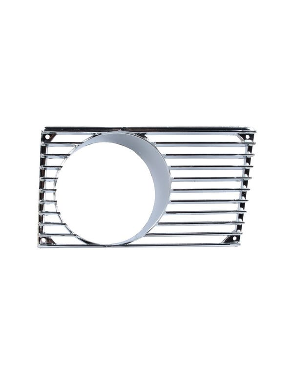 Horn Grille with Fog Light Hole in Chrome, Right