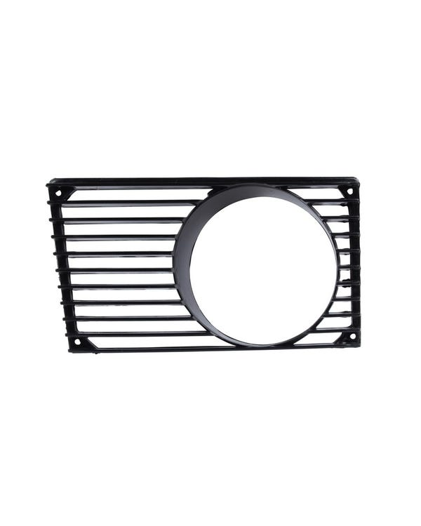 Horn Grille with Fog Light Hole in Black, Left