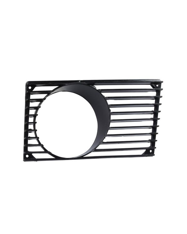 Horn Grille with Fog Light Hole in Black, Right