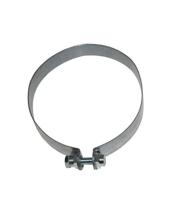 Exhaust Silencer Strap, Stainless Steel, Left