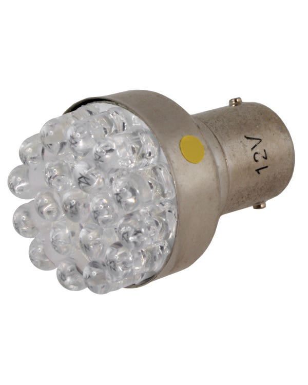 LED Bulb 382 12V 21W with BA15S Contact (Amber)