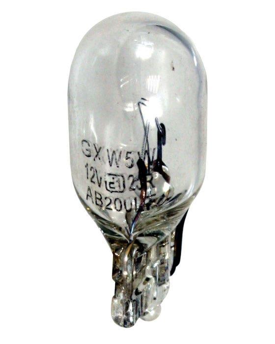 Glühbirne 501 W5W, ohne Kappe, 12 V/5 W, transparent
