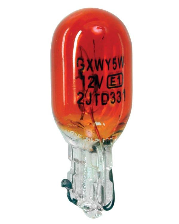 Glühbirne 501 W5W, ohne Kappe, 12 V/5 W, orange