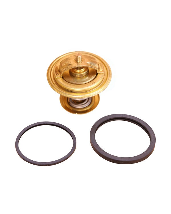 Thermostat for Engine Coolant System, Includes Rubber Seals
